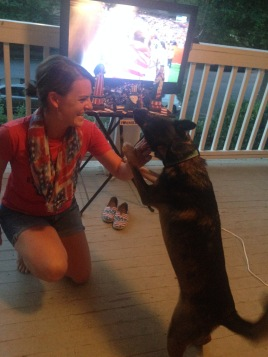 Abner wanted his own sparkler!